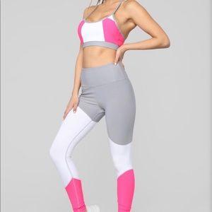 🆕Neon Pink & Gray activewear